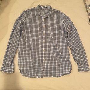7 for all Mankind plaid button down shirt